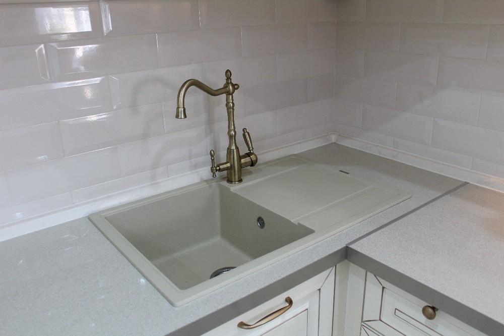 Встроенная кухня-Кухня МДФ в ПВХ «Модель 154»-фото6