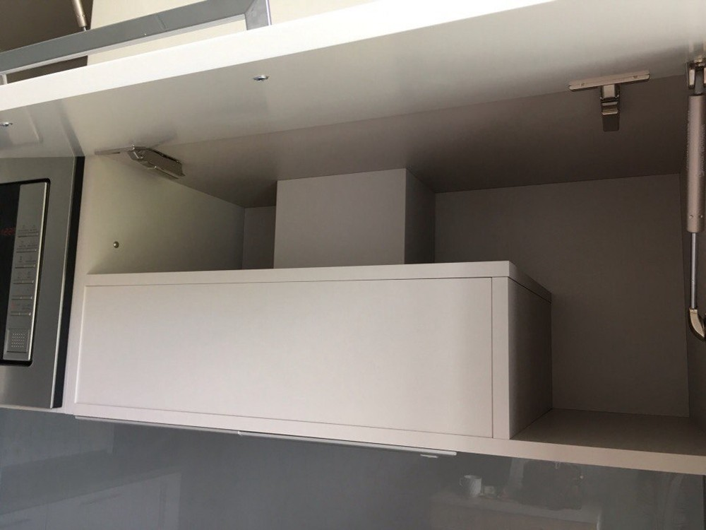 Белый кухонный гарнитур-Кухня МДФ в ПВХ «Модель 168»-фото4