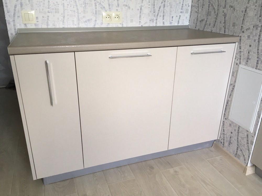 Белый кухонный гарнитур-Кухня МДФ в ПВХ «Модель 168»-фото2