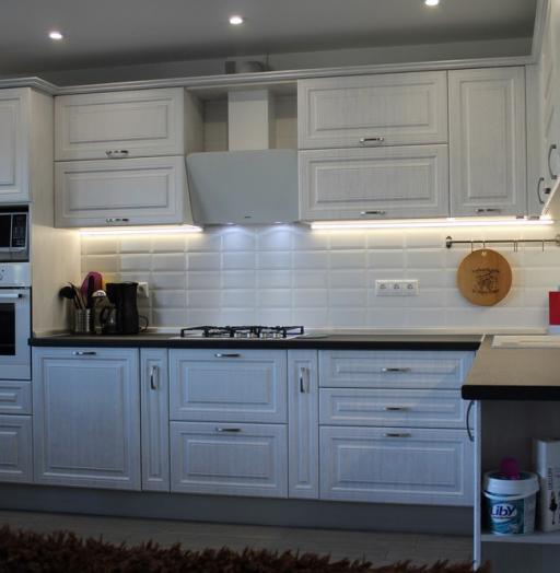 Белый кухонный гарнитур-Кухня МДФ в ПВХ «Модель 231»-фото8