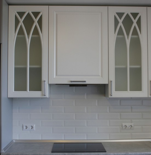 Белый кухонный гарнитур-Кухня МДФ в ПВХ «Модель 324»-фото10