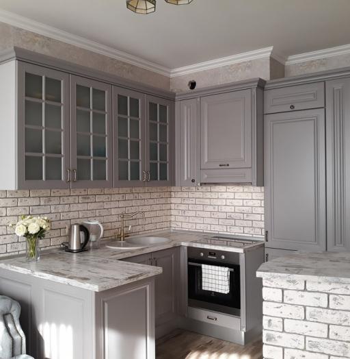 Встроенная кухня-Кухня МДФ в эмали «Модель 281»-фото11