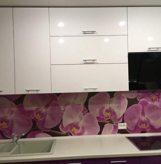 Белый кухонный гарнитур-Кухня из пластика «Модель 267»-фото6
