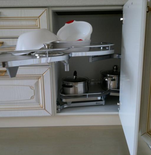 Белый кухонный гарнитур-Кухня МДФ в эмали «Модель 126»-фото9