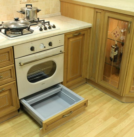 Встроенная кухня-Кухня из массива «Модель 127»-фото17
