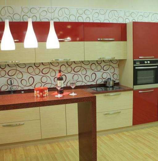 -Кухня из пластика «Модель 129»-фото1