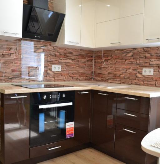 Кухни на заказ-Кухня МДФ в ПВХ «Модель 177»-фото4