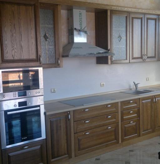 Встроенная кухня-Кухня из шпона «Модель 333»-фото5