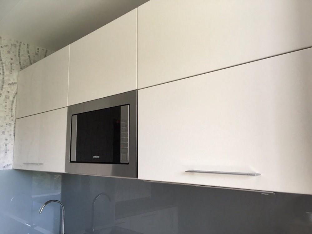 Белый кухонный гарнитур-Кухня МДФ в ПВХ «Модель 168»-фото5